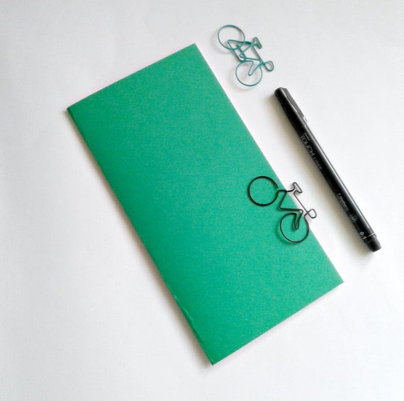 GREEN Travelers Notebook Insert - Midori Insert - Regular Standard Wide B6 Personal A6 Pocket Field Notes Passport Micro Jade - N506