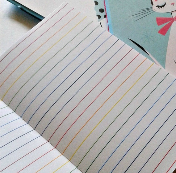 RAINBOW LINES Traveler's Notebook Insert - Midori Insert - Unique Gift for Her - Fun Planner Refill - Colourful Travelers Insert - N131