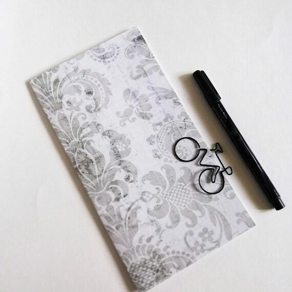 Travelers Notebook Insert GREYDAMASK Travelers Notebook Insert Regular Standard A5 Wide B6 Personal A6 Field Notes Passport Micro - N652