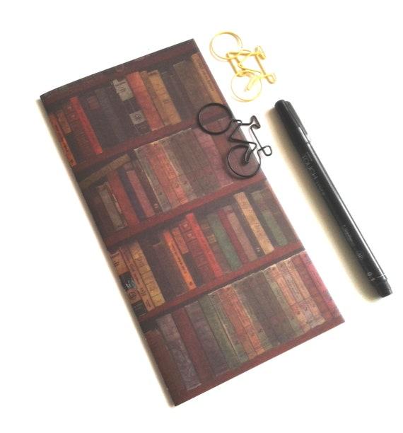 LIBRARY Traveler's Notebook Insert - Midori Insert - Fauxdori - TN Insert - Traveler's Journal - Personal Diary Journal - N503