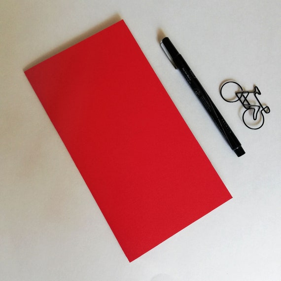 RED SHIMMER Travelers Notebook Insert - 10 Size Choices - Lined Grid Blank Dot Grid - TN Refill, Journal Recharge - N668