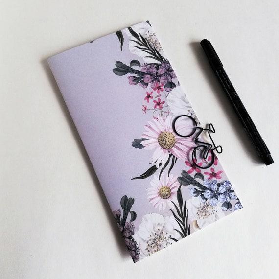 Travelers Notebook Insert DAISY FLOWERS Travelers Notebook Insert Regular Standard A5 Wide B6 Personal A6 Field Notes Passport Micro - N628