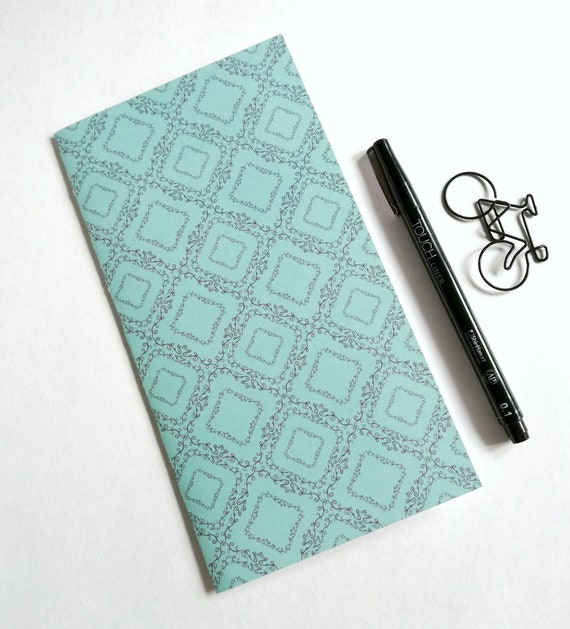 BLUE GREEN Travelers Notebook Insert - Fauxdori Midori Insert - TN Refill Accessory - Robin Blue Turquoise Insert - 10 Sizes - N567