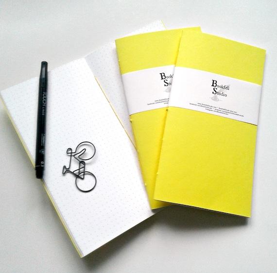 Midori Insert YELLOW Travelers Notebook Insert Regular Standard A5 Wide B6 Personal A6 Pocket Field Notes Passport Micro - N382