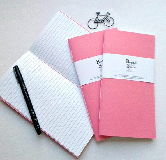 Travelers Notebook Insert - PINK - Midori Insert - Regular Standard A5 Wide B6 Personal A6 Pocket Field Notes Passport Micro - N407