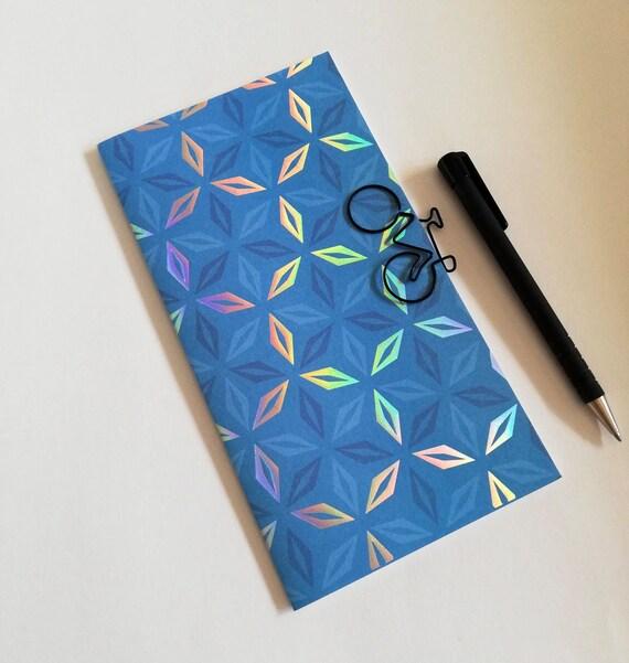 Travelers Notebook Insert BLUE FOIL - 11 Sizes include Regular Standard A5 Wide B6 Slim Personal A6 Pocket Passport Micro Nano - N608