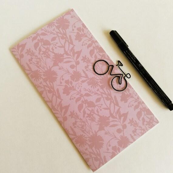 Travelers Notebook Insert DUSTY ROSE Travelers Notebook Insert Regular Standard A5 Wide B6 Personal A6 Field Notes Passport Micro - N630