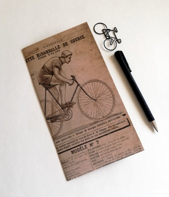 Travelers Notebook Insert BICYCLE Travelers Notebook Insert Regular Standard A5 Wide B6 Personal A6 Field Notes Passport Micro - N602