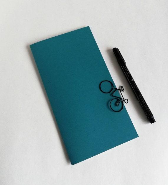 Travelers Notebook Insert - CERULEAN BLUE - Midori Insert - Regular Standard Wide B6 Personal A6 Pocket Field Notes Passport Micro - N613