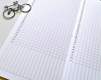 HABIT TRACKER Traveler's Notebook Insert - Midori Insert - Fitness Tracker - Productivity Planner - Goal Planning Insert - C009