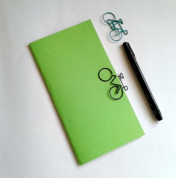 LIME Travelers Notebook Insert - Midori Insert - Regular Standard A5 Wide B6 Personal A6 Pocket Field Notes Passport Micro Green - N504