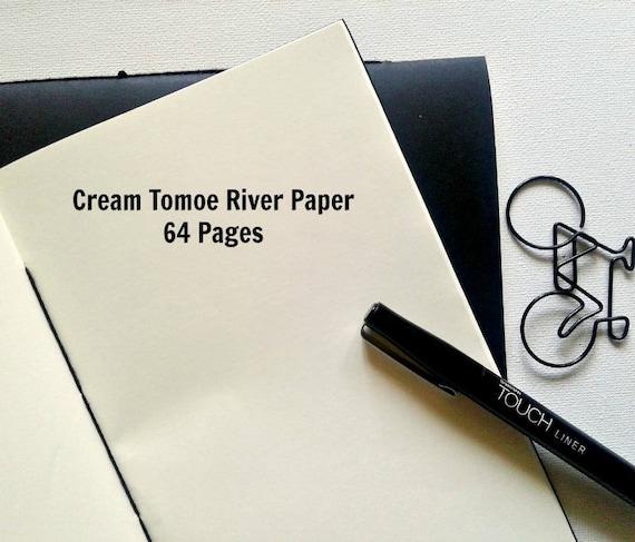 Cream Tomoe River Paper - 68 gsm, Traveler's Notebook Insert, Fountain Pen Friendly, Fauxdori Midori Insert - N272