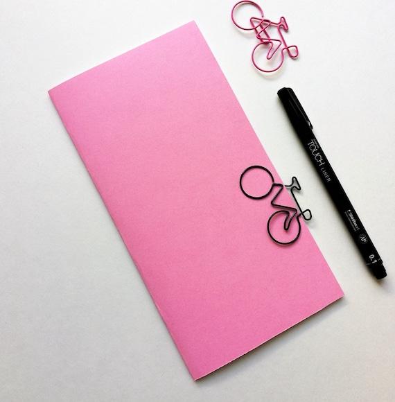 BUBBLEGUM PINK Travelers Notebook Insert - Midori Insert - Regular Standard Wide B6 Personal A6 Pocket Field Notes Passport Pink - N522