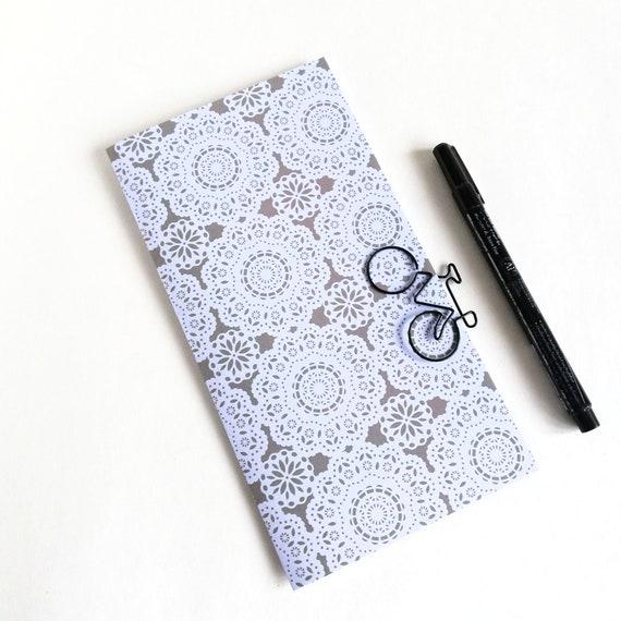 Travelers Notebook Insert - VIOLET, GREY - Travelers Notebook Refill - Regular Standard A5 Wide B6 Personal A6 Pocket Passport Micro - N609