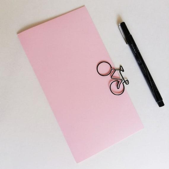 Travelers Notebook Insert - Baby Pink - Midori Insert - Regular Standard Wide B6 Personal A6 Pocket Field Notes Passport Micro - N656