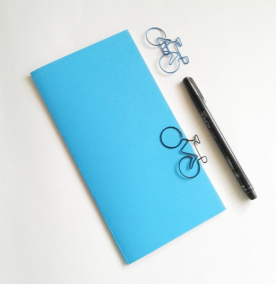 Turquoise Travelers Notebook Insert - Midori Insert - Regular Standard Wide B6 Personal A6 Pocket Field Notes Passport Micro Blue - N504