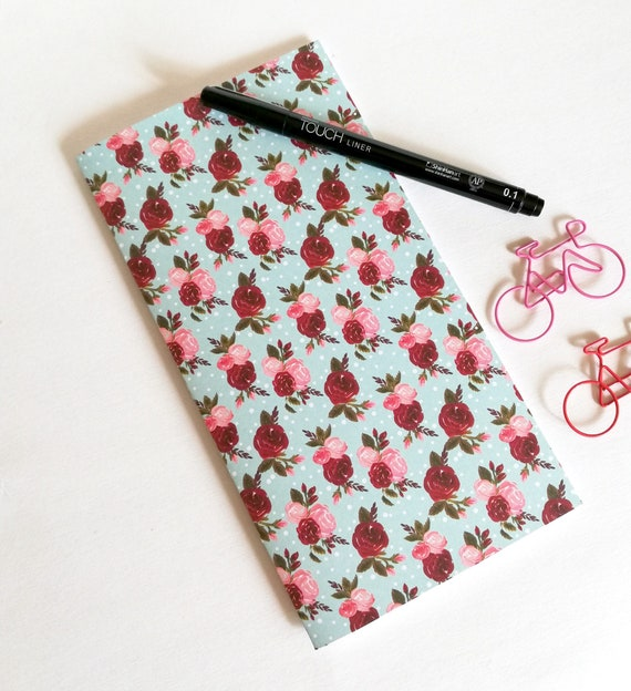 Travelers Notebook Insert PINK RED ROSES Traveler's Notebook Refill Regular Standard A5 Wide Inserts for my Traveler's Notebook - N541