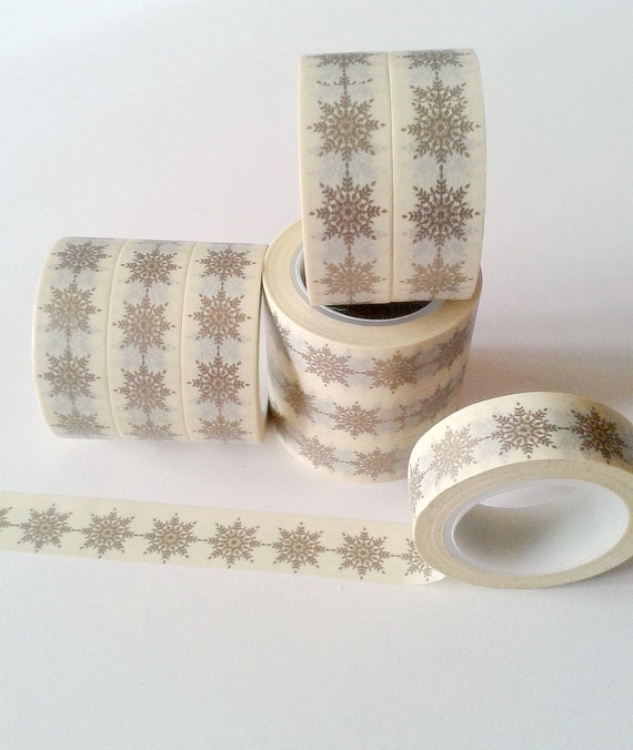 Full Roll Washi Tape - Premium Tape - GOLD Star for your Planner, Travelers Notebook, Planner Craft, Gift for Her - WT028