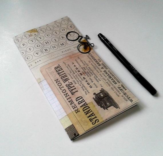 Fauxdori Insert TYPEWRITER Travelers Notebook Insert Regular Standard A5 Wide B6 Personal A6 Pocket Field Notes Passport Micro - N356