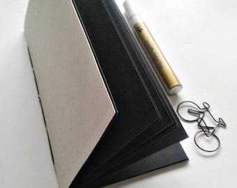 Black Art Paper Traveler's Notebook Insert, Black TN Insert made with Black Strathmore Artagain Paper, Coloured Paper Midori Refill - N220