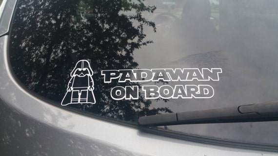 Baby Darth Vader Bumper Sticker Decal Star Wars Baby On Board