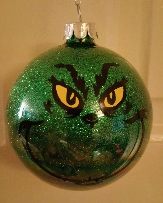 grinch christmas tree bauble tree decoration green glitter bauble grinchmas christmas decoration tree ornament ba humbug grinch