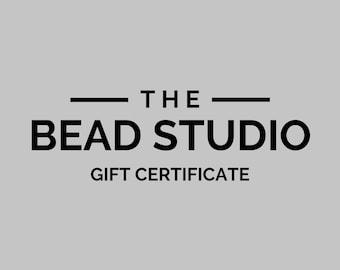 Bead Studio Gift Certificate | Jewelry Making Gift Certificate | Gift Card | Gift for Crafter | Gift for Jewelry Maker | Gift for Artist