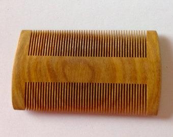 Green Sandalwood Beard Comb