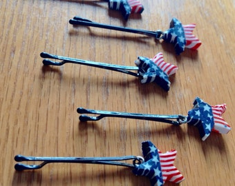 Beard Bauble Ornaments Beard Art Baubles Patriotic Beard Ornaments Handmade Clay Flag Baubles for the Beard Baubles for the Beard Bling