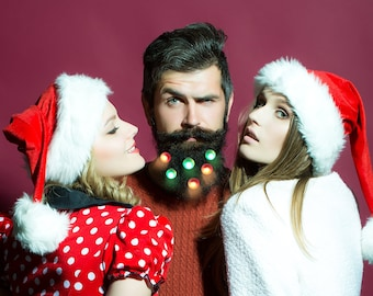 Beard Lights,  Beard Fairy Lights, Nano Beard Lights, Beard Ornaments  by Beard Basics