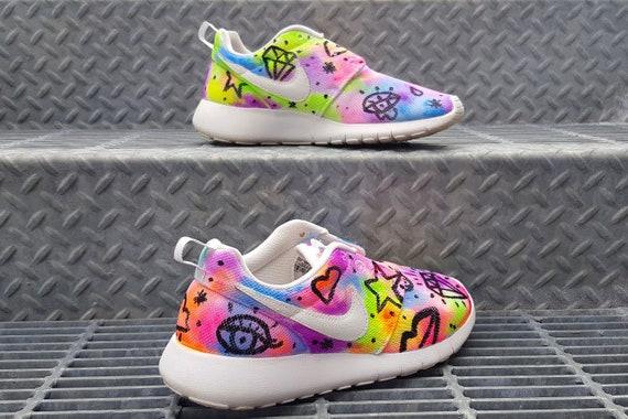 Custom Neon Fever Trip Nike Roshe Run