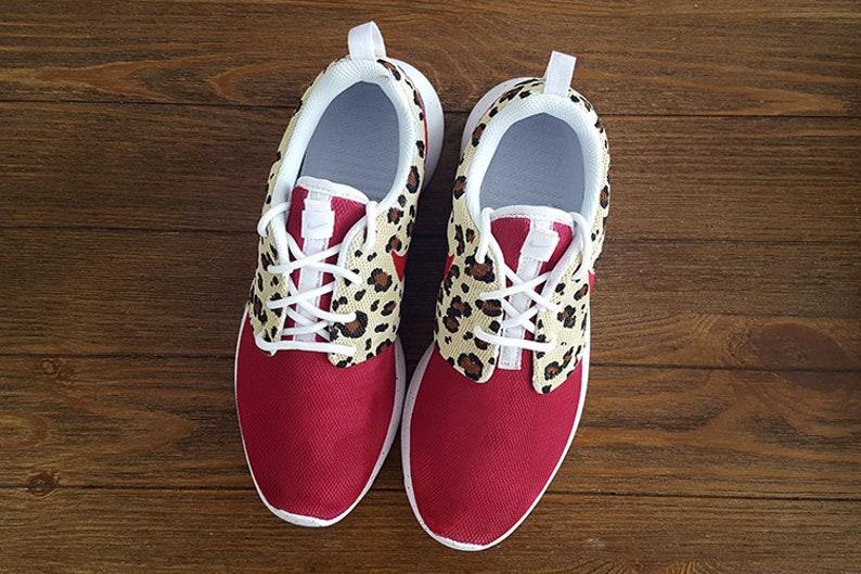 reputable site 42b5a 311ea Custom Raspberry Cheetah Nike Roshe Shoes   Etsy
