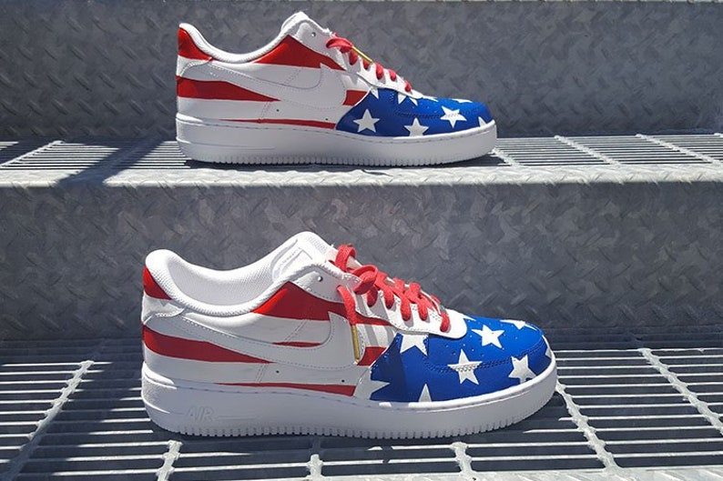cheap for discount 6d02a 82d3a Custom Team USA Nike Air Force 1 Low   Etsy