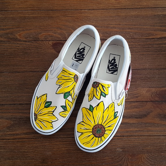 Custom girasole VANS Slip on scarpe