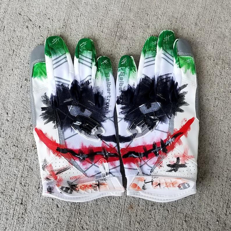 de9a5ffeb Custom Joker Football Receiver Gloves Batman Gifts Gifts