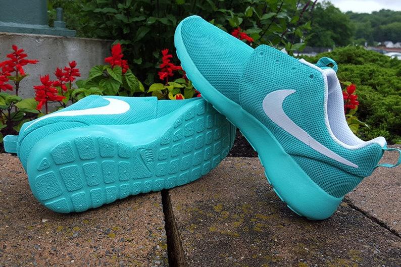 c7d6f8ed6bf83 Custom Summer Blue Nike Roshe Shoes