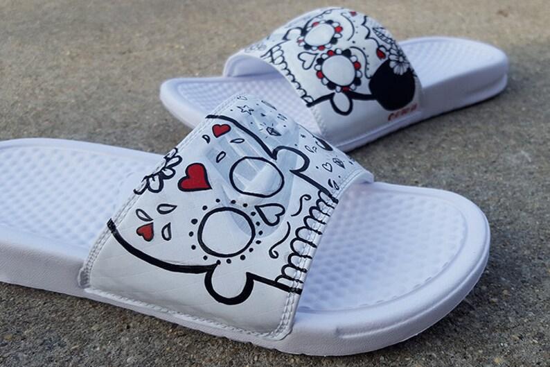 c2cf41d8b2 Custom Sugar Skull Nike Slides Sandals