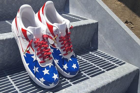 buy popular 19027 48ca2 Custom Team USA Nike Air Force 1