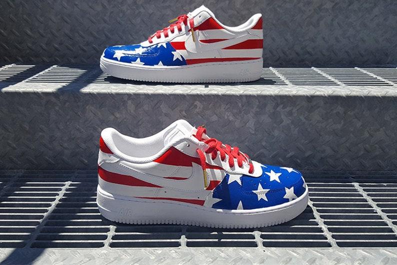 sale retailer b6ed7 0b65d Benutzerdefinierte Team USA Nike Air Force 1 Low   Etsy