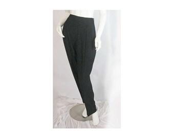 "Jones NY, Sz: 12, Black Slack, Versatile Little Black Pant, Inseam Pockets, Straight Leg, Chic Sleek ""Little Black Pant"" Vintage Pristine"