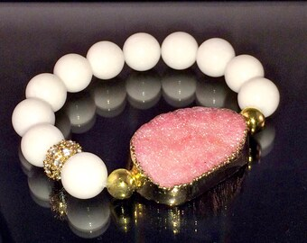Bracelets: Druzy Quartz