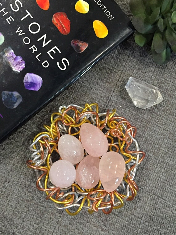 Small Natural hand carved Rose Quartz Gemstone Egg- Decorative Crystal Healing Home Decor. Collectible Yoni eggs. Unconditional Love Energy