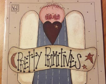 Pretty Primitives by Karen Stone - Tole Painting - Seasonal Wood Paint Designs - Painting Pattern Book