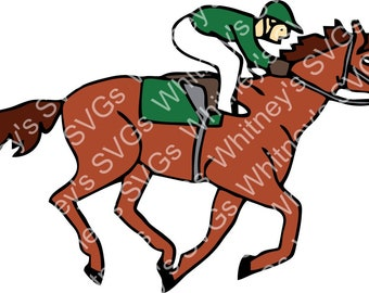 Walking Race Horse SVG DXF Cutting File