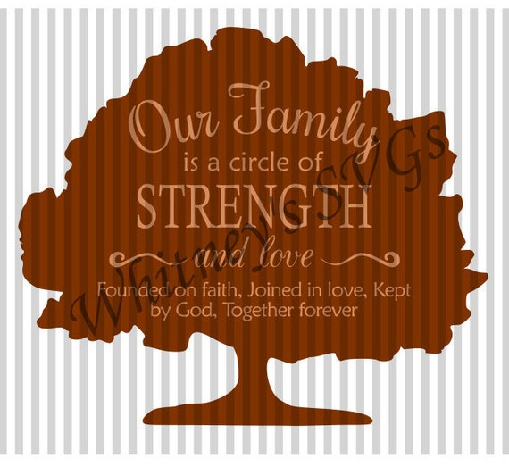Our Family Is A Circle Of Strength And Love Founded On Faith Etsy