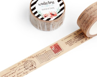 Washi Tape *SHOP EXCLUSIVE* Vintage Postcards Masking Tape by Wintertime Crafts for Scrapbooking, Journaling, Traveler's Notebook, Collage