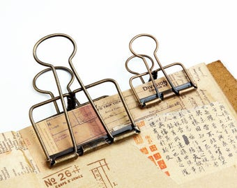 United Novelty Hollow Out Metal Binder Clips Cute Paper Clip Diy School Office Supplies Stationary Office & School Supplies