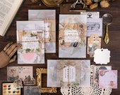 Material Packs by MO CARD - Vintage Style Paper and Sticker Sets for Art Journaling, Junk Journals, Notebooks, Paper Crafts, Scrapbooking