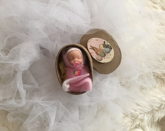Gorgeous Polymer Clay Baby,Baby Girl,Easter Baby,Gift Box,worldwide shipping!!!