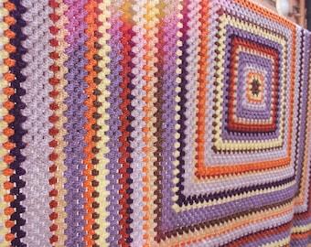 Crochet granny square blanket new spirit of 70's